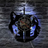 Game Of Thrones Led Vinyl Clock Wall Light Backlight Color C...