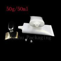 50g x 50 Tube de crème blanche blanche vide pour les cosmétiques Emballage 50ml Lotion CC Cr Crème Bouteilles en plastique Crème Crème Crème Contenants Tube