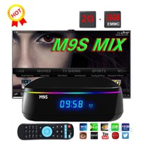 Nouveau S912 Android M9S MIX Octa Core TV Box 2 Go 16 Go Wifi 2,4 GHz Bluetooth 4.0 Lan 10 100 1000 M Boîtes TV Android 6.0 Media Player