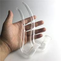 Adaptador de vidrio J gancho Bongs de agua Ash Catcher Accesorios de bricolaje 14mm 18mm Mujer claro grueso de vidrio Pyrex Straw Curve Pipes