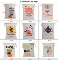 DHL GRATUIT 2017 Halloween Sac À Cordon Sac Trick or Treat Sac Sacs Citrouille Araignée sacs Pour Hallowen Parti