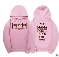 Purpose Tour Justin Bieber Hoodies men High Quality sweat ho...
