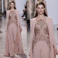 2017 Elie Saab Dresses Evening Wear Long Sleeves Sheer Jewel...