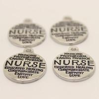 15pcs - 19x22mm argento antico tono infermiera pendente di fascini per fare gioielli fai da te