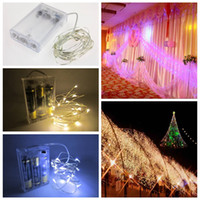 Edison2011 2/3/4/5/10 Mt Batteriebetriebene LED Kupferdraht Lichterketten String Weihnachten Home Party Dekoration Samen Lampe Wasserdicht