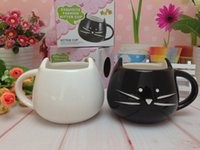 Novelty Cute Cat Animal Milk Mug Ceramic Creative Coffee Por...