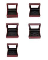 Boîtes de bijoux 12 * 16 * 7cm Boîtes de bijoux classiques Boîte de bijoux de boîte poreuse Boîte à bijoux pour bagues de championnat ou cadeau multi-style optionnel B005