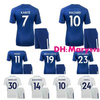 La meilleure qualité 17 18 Chelse home blue soccer Jersey Kits PEDRO FABREGAS DANGER DIEGO COSTA WILLIAN KANTE Away noir 3RD blanc Football Shirt