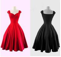 2017 Plus La Taille Audrey 'Hepburn Style 1950s 60 Vintage Inspiré Rockabilly Swing Années 50 2016 Robes De Soirée Pour Femmes