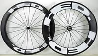 25 milímetros 700C largura 60 milímetros de carbono rodas dianteiras 88 milímetros traseira da bicicleta Clincher / Tunbular Estrada Wheelset com Powerway R36 Hetero Pull Hub UD acabamento fosco