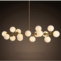 North Europe LED modo chandeliers lighting DNA pendant light...