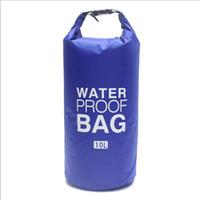 Ultra taşınabilir su geçirmez çanta Açık Sürüklenen Kuru Çanta 190 T polyester Ekose omuz Su Geçirmez Kuru Depoları Kamp Katlanır ...