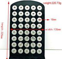 ブラックアクリルスナップスタンドディスプレイセット5.3 '' * 8.7 '' 12mm 18mmスナップチャームボタンジンジャースナップジュエリー