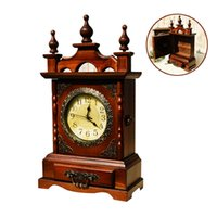 Style Household Decor Double Mute Clock Handmade Large Mute ...