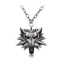 Vendita all'ingrosso di modo Wizard-calda 3 medaglione Collana della testa del lupo della collana di U Scegli colore collana di Halloween