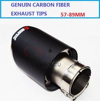 2 قطع مدخل 57 ملليمتر منفذ 89 ملليمتر سيارة التصميم akrapovic الكربون العادم كاتم الصوت نصائح عالمية