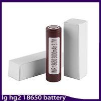 100% Yüksek Kaliteli HG2 18650 Pil 3000 mAh 35A MAX Şarj Edilebilir Lityum Piller LG Hücreleri Için Fit Vape kutusu mod 0269006