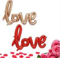 Ligatures LOVE Letter Palloncino Foil Anniversary Wedding San Valentino Decorazione Palloncino Rosso Champagne Spedizione gratuita
