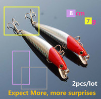 Red head 3D eyes minnow fishing bait wobbler hard topwater f...