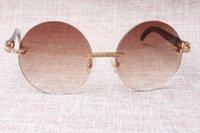 Weiße Hohe Sonnenbrille Rand Mode Neue Retro No Horn Schwarz Qualität T3524012 Diamant Buffalo 58-18-1 EUJTM
