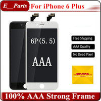 Meilleur qality (New Tianma lcd) Grade AAA + LCD Touch Touch Digitizer avec cadre complet Assemblée Remplacement Pour iPhone 6 6 Plus LCD (5,5 pouces)