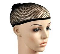 Alta Qualidade 20 pcs New Fishnet Tecelagem Peruca Cap Stretchable Cabelo Elástico Net Snood Peruca Caps Cor Preta Hairnets Acessórios