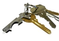 Combinación de herramienta edc multifuncional con pinza de llave 8 en 1 llavero con destornillador Abrebotellas de acero inoxidable EDC