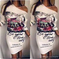 새로운 여성 Dashiki 드레스 화이트 섹시한 목 파티 클럽 드레스 연필 바디 콘 캐주얼 우아한 슬림 빈티지 인쇄 드레스 Vestido