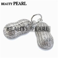 5 Pieces Peanut Shape Pearl Pendant Mounting 925 Sterling Si...