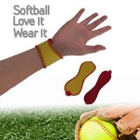 2016 Softball-Baseball-Leder-Manschettenarmband