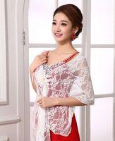 Freies verschiffen neueste stil heißer verkaufen braut schal spitze blume wraps jacken hochzeitskleid zubehör shuoshuo6588