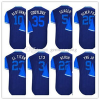 2017 Little League World Players Fin de semana LA Baseball Chris Taylor Clayton Kershaw Corey Seager Joc Pederson Royal Apodo Jerseys