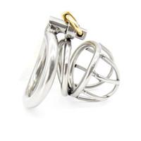 Доктор Мона Лиза - мужской короткий размер изогнутый кольцо из нержавеющей стали целомудрие клетка устройство небольшой металлический комплект бондаж SM игрушки