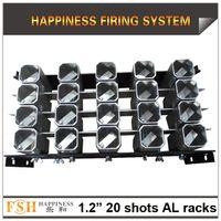 FedEx / DHL бесплатная доставка, 1 шт. / Лот, 1,2 дюйма 20 выстрелов стойки, AL дисплей стойки для фейерверков, специально для римских свечей или одного выстрела