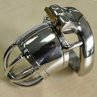 Manliga kyskhetsenheter Cock Lock Chasity Cages Ny Lås Design Chastity Cock Cage Device för män S097-1