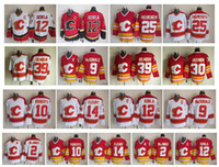CCM Calgary Flames Hockey Jersey Calgary Flames 12 Jarome Iginla 14 Théoren Fleury 9 McDonald 39 Gilmour 2 Macinnis 25 Nieuwendyk