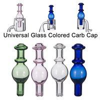 2018 Universal Glass Glass Bubble Carb Cap Round Ball Dome para tubos de agua de vidrio, Dab Oil Rigs, Quartz Thermal Banger Nails