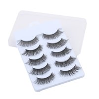 Wholesale- 5 Pairs Soft Long Makeup Cross Thick False Eyelas...