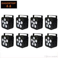 FREESHIPPING 8XLOT 6X18W بطارية تعمل بالطاقة لاسلكية قابلة للشحن 6IN1 LED الاسمية يمكن ضوء 110W الأشعة تحت الحمراء Uplight CE ROHS Tianxin المصابيح TP-B04