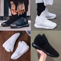 2017 All White Color Mens Y3 Qasa High Top Sneakers High Qua...
