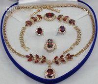 Bijoux Mode Bijoux Ensemble Femme Zirconia Collier Boucle d'oreille Bracelet Bracelet Ensembles de bijoux + Boîte