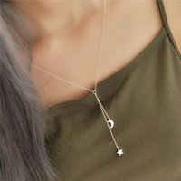 Wholesale 925 Sterling Silver Necklaces Heart Star Moon Pend...
