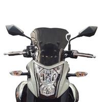 دراجة نارية الزجاج الأمامي الزجاجي ل Kawasaki ER-6N 12 13 14 15 16 ER6N 2012 2014 2014 2015 2016 airflow الرياح flyscreen deflector