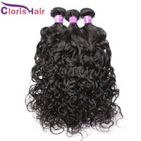 Sew Water Wave brasileira Cabelo Weave Pacotes molhado e ondulado Brazillian cabelo encaracolado 4pcs no cabelo humano extensões para Mulheres Negras