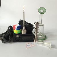 E Nail Kit Majesty Main Installez la boîte de température Boîte DNAIL Numérique avec ongle en titane avec verre bong vapeur banger