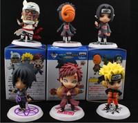 Wholesale action toy figures ontwerp 12 stks PVC anime Naruto figuur shikamaru, kakashi, sasuke model speelgoed voor verzameling