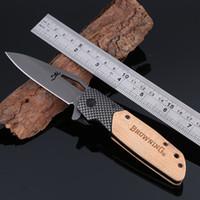 Browning X28 couteau tactique vitesse ouverture couteau pliant 440C 57hrc carbone + bois de serpent manche couteaux de chasse 12 pcs livraison gratuite