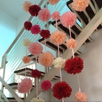 Wholesale tissue paper flowers for wall buy cheap tissue paper 5 photos wholesale tissue paper flowers for wall hot quot cm paper pompoms tissue flower balls decorative mightylinksfo