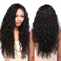 Lace Front Human Hair Wigs Curly Burmese Virgin Hair With Ba...