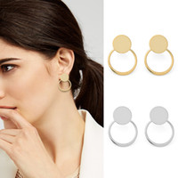 YC Top Quality Earrings Copper Plated 14 k Gold Geometry Tri...